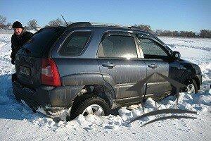машина застрявшая в снегу