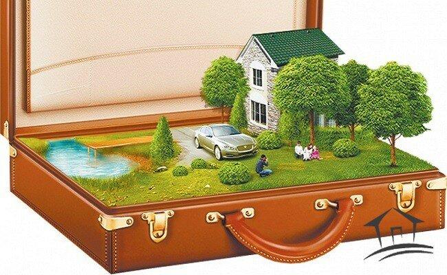 участок земли в чемодане