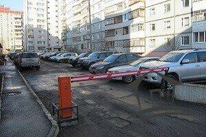 стоянка машин во дворе